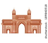 easy to edit vector illustration of Gateway of India  in floral design - stock vector