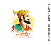 illustration of shivaji maharaj ...   Shutterstock .eps vector #1898412946