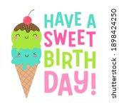 cute ice cream couple... | Shutterstock .eps vector #1898424250