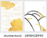 japanese background with hand... | Shutterstock .eps vector #1898428990