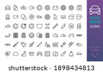 auto parts icon set. isolated... | Shutterstock .eps vector #1898434813