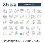 heart attack. collection of... | Shutterstock .eps vector #1898437153