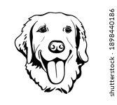 labrador retriever. silhouette. ... | Shutterstock .eps vector #1898440186