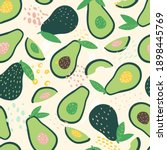 doodle avocado and abstract...   Shutterstock .eps vector #1898445769