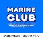 vector creative logo marine... | Shutterstock .eps vector #1898454979