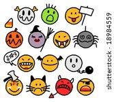 halloween smileys   Shutterstock .eps vector #18984559