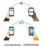 sending text money using smart... | Shutterstock .eps vector #189845906
