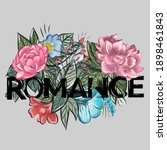 romance slogan in colorful... | Shutterstock .eps vector #1898461843