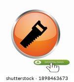 simple saw icon  vector  icon...