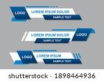 modern geometric lower third... | Shutterstock .eps vector #1898464936