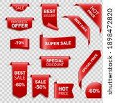 ribbon sale badges  banners ... | Shutterstock .eps vector #1898472820