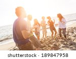 multiracial group of friends... | Shutterstock . vector #189847958