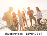 multiracial group of friends... | Shutterstock . vector #189847964