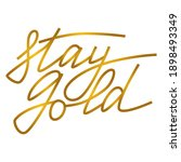 stay gold   beautiful positive... | Shutterstock .eps vector #1898493349