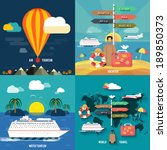 icons set of traveling ... | Shutterstock .eps vector #189850373