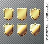 retro golden labels and shields....   Shutterstock .eps vector #1898506150