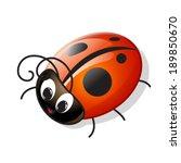 vector funny cartoon ladybug | Shutterstock .eps vector #189850670