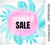 vector banner with tropical... | Shutterstock .eps vector #1898546686