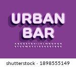 vector trendy emblem urban bar. ...   Shutterstock .eps vector #1898555149