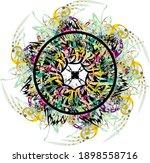 colorful flower splashes formed ... | Shutterstock .eps vector #1898558716