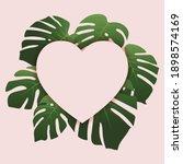top view copy space heart shape ... | Shutterstock .eps vector #1898574169