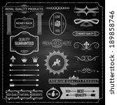 design elements chalk texture | Shutterstock .eps vector #189858746