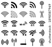 wi fi  set icon  logo isolated... | Shutterstock .eps vector #1898587969