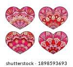 vector hearts set. decorative... | Shutterstock .eps vector #1898593693