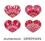 vector hearts set. decorative... | Shutterstock .eps vector #1898593696
