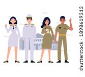 group of thai government... | Shutterstock .eps vector #1898619313