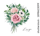 vector  editable floral... | Shutterstock .eps vector #1898623099