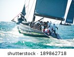 Small photo of Cascais, Portugal - April 27, 2014: RC44 CASCAIS CUP. International competition in class yachts RC44. On the photo: ALEPH RACING