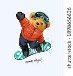 bear doll snowboard jumping...   Shutterstock .eps vector #1898656636