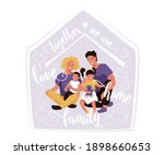 happy family with quote text... | Shutterstock .eps vector #1898660653