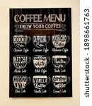 know your coffee on chalkbord ... | Shutterstock . vector #1898661763