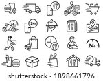 20 set of food delivery related ...   Shutterstock .eps vector #1898661796