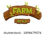 vector wooden farm logo for ui...