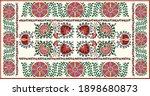 seamless oriental uzbek  kazakh ... | Shutterstock .eps vector #1898680873