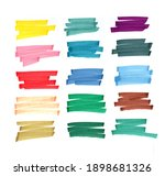 background stripes painted with ... | Shutterstock . vector #1898681326