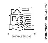 collateral linear icon.... | Shutterstock .eps vector #1898681749