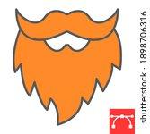 leprechaun beard color line...   Shutterstock .eps vector #1898706316
