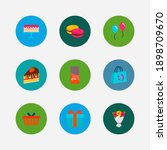 gift icons set. macaroons and...
