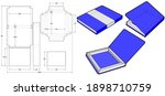 chocolate box that is shaped... | Shutterstock .eps vector #1898710759