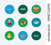 food icons set. maguro nigiri...