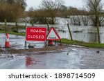 Road Closed And Flood Signage...