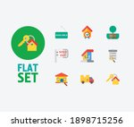 property icons set. key and...