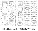 calligraphic design elements .... | Shutterstock .eps vector #1898728126