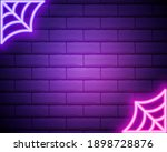spider web neon icon. elements... | Shutterstock .eps vector #1898728876
