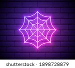 spider web neon icon. elements... | Shutterstock .eps vector #1898728879