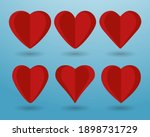 heart set of vector icons.... | Shutterstock .eps vector #1898731729